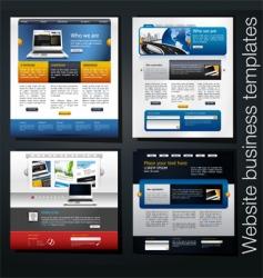 website set vector image vector image