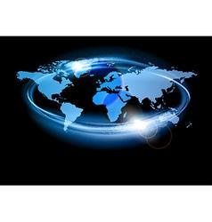 world abstract shine blue big vector image vector image