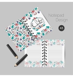 Christmas planner template vector image