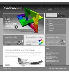 Gray Website Template 960 Grid vector image vector image
