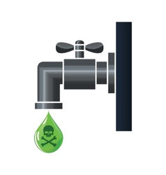 Water tap or faucet with poison drop vector image vector image