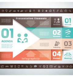business infographics and presentation template vector image