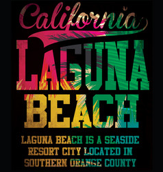 california laguna beach art vector image vector image