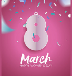 Happy womens day 2018 fun party greeting card vector
