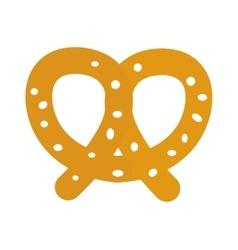 Soft pretzel isolated icon vector image
