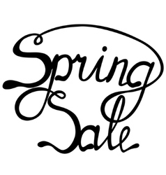 Spring sale lettering vector image