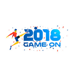 2018 soccer player web banner for sport event vector image