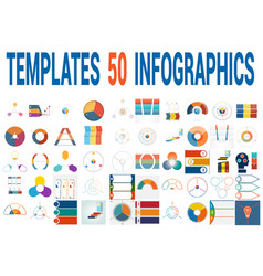 50 templates for infographics for three positions vector
