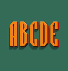 A b c d e orange red black 3d letters vector