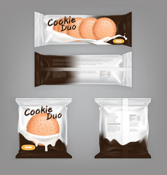 A package design with milk vector