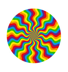 abstract circular pattern of multicolored wavy vector image