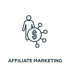 affiliate marketing icon symbol creative sign vector image
