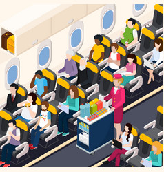Airplane passengers composition vector