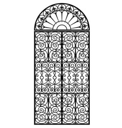 arched metal gate vector image
