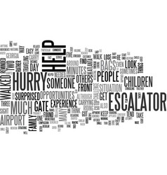 Are you in too much of a hurry text word cloud vector