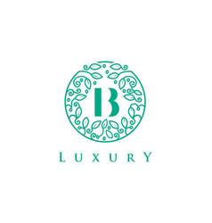 B letter logo luxurybeauty cosmetics logo vector