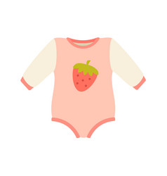 Baby suit clothes and romper vector