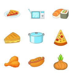 Bakeshop icons set cartoon style vector