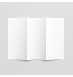 Blank trifold paper brochure vector image vector image