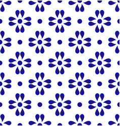 blue and white cerami pattern vector image