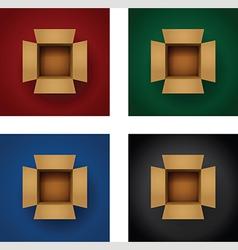 Box vertical set vector