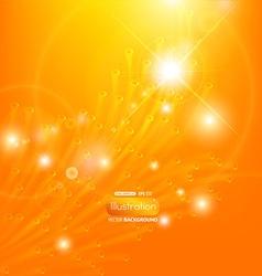 Bright Orange Design for Business vector image