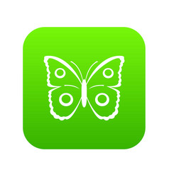 butterfly peacock eye icon digital green vector image
