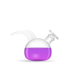 Chemical retort lab tool vector image