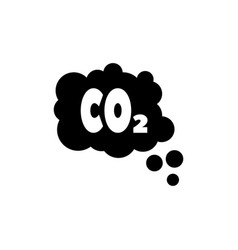 Co2 emissions cloud smog pollution flat vector