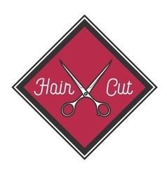 Color vintage barbershop emblem vector image