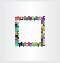 colorful frame design background box vector image