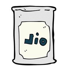 comic cartoon oil barrel vector image