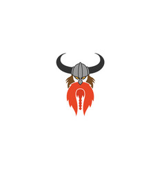 creative abstract viking head logo vector image