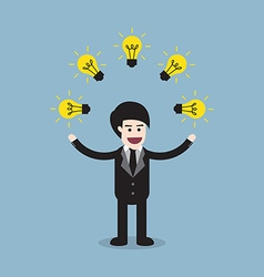 Creative idea business man vector