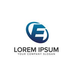 creative modern letter e logo design concept vector image