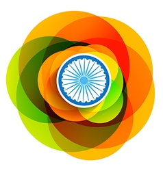 creative style indian flag vector image