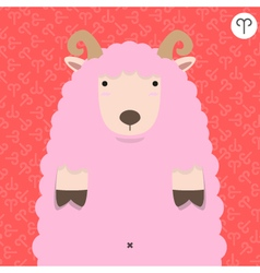 cute big fat aries zodiac cartoon vector image