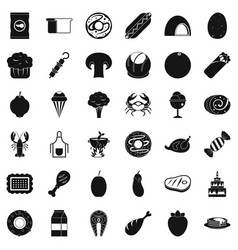 Donut icons set simle style vector