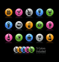 drinks icon set - gelcolor series vector image