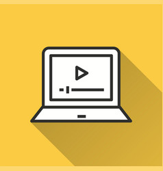 E-learning education - icon for graphic and vector