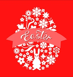 easter ribbon red vector image
