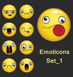 Emoticons set 1 vector