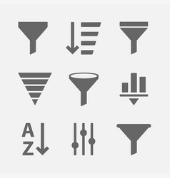 filter icon set vector image