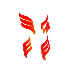 fire graphic design template isolated vector image