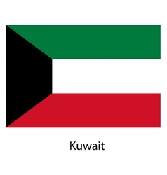 Flag of the country kuwait vector image