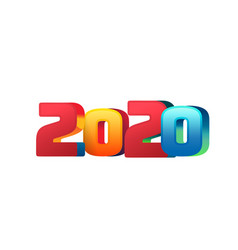 flat 2020 numbers for new year design vector image