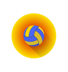 flat color volleyball ball vector image