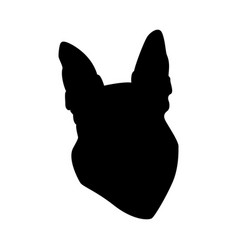 German shepherd dog silhouette vector