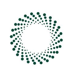 halftone circle frame dots vector image
