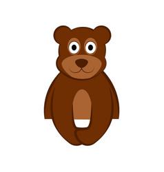 Happy bear icon vector